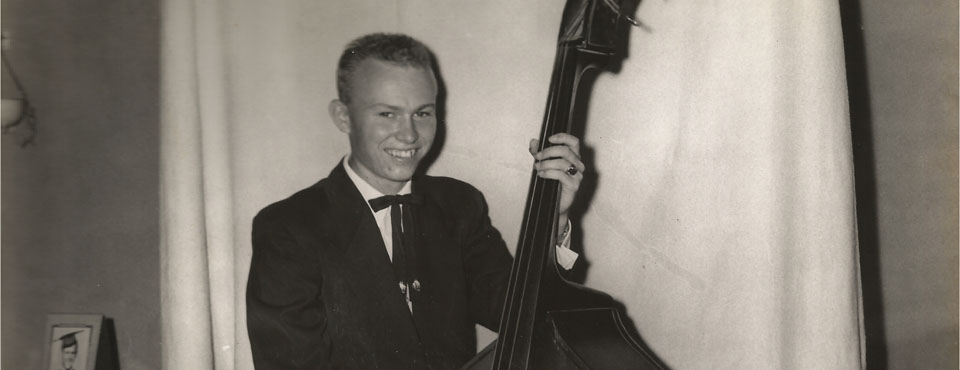 Bob with his Bass
