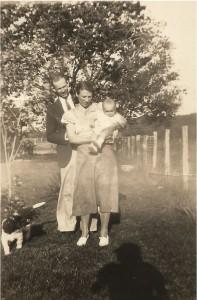 Albert & Goldie with baby Bill - first child