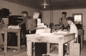 Brumley Boys making songbooks