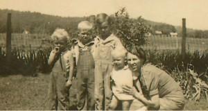 Goldie & 4 boys 1938